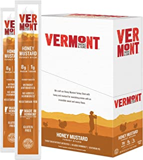 product image for Vermont Smoke & Cure Meat Sticks - Antibiotic Free Turkey Sticks - Gluten-Free Snack - Paleo and Keto Friendly - Nitrate Free - Honey Mustard - 1oz Stick - 24 Count