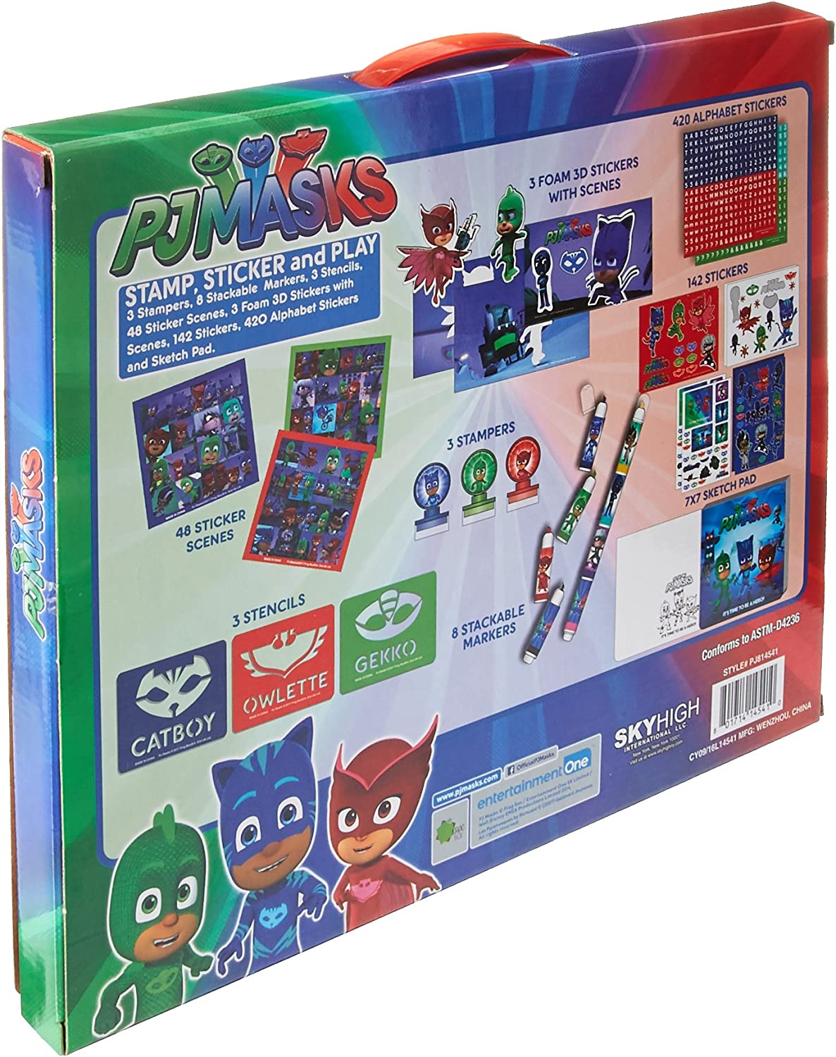 PJ Masks Stamp Sticker and Play Set - Over 550 Pieces ...