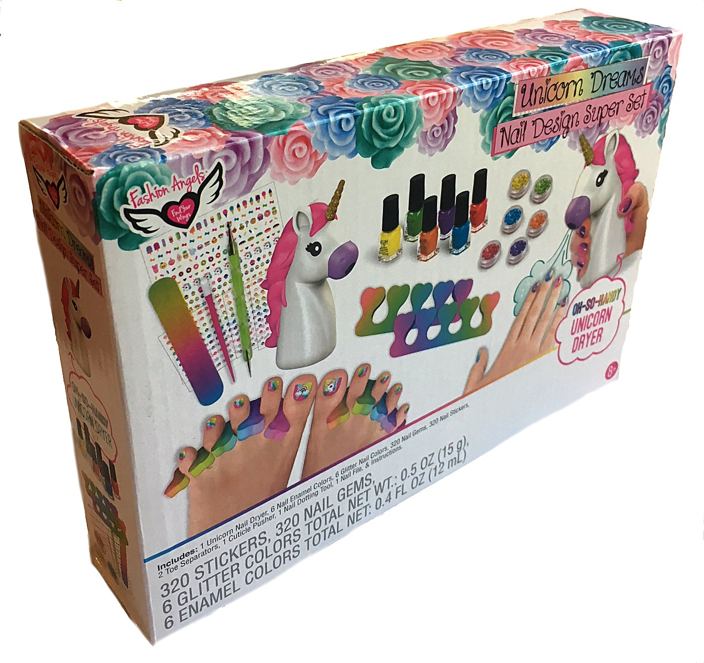 Fashion Angels 12180 Unicorn Dreams Nail Design Super Set Toy (Over 650 Piece), Assorted, Pack of 1 8