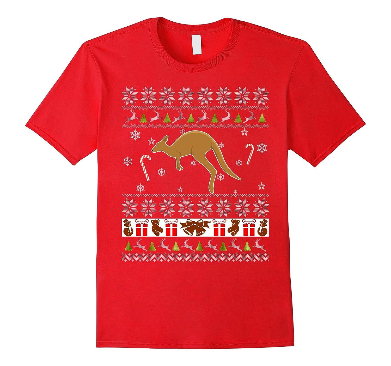 Ugly Christmas Sweater Cute Kangaroo T-shirt Xmas Gifts Idea-FL