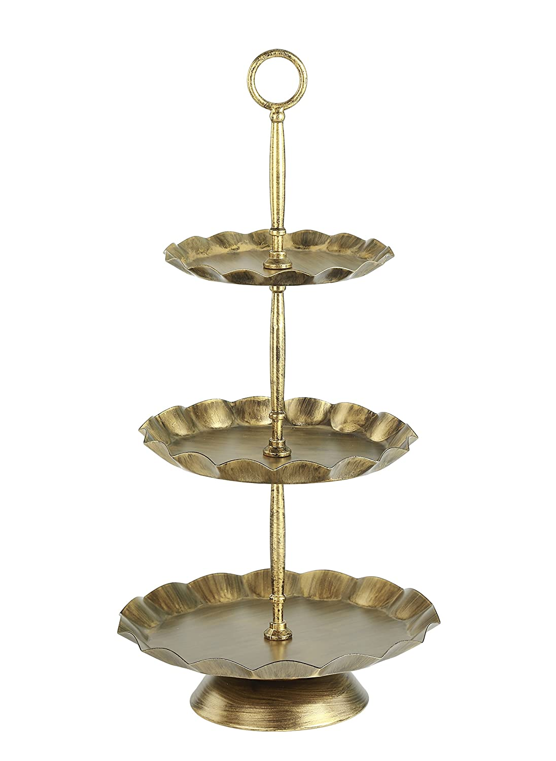 Vilavita 3-Set Antique Cake Stand Round Cupcake Stands Metal Dessert Display with Crystal Beads Gold COMINHKPR128676  sc 1 st  Weather Instruments Air Purifiers Global fashion! & Vilavita 3-Set Antique Cake Stand Round Cupcake Stands Metal Dessert ...