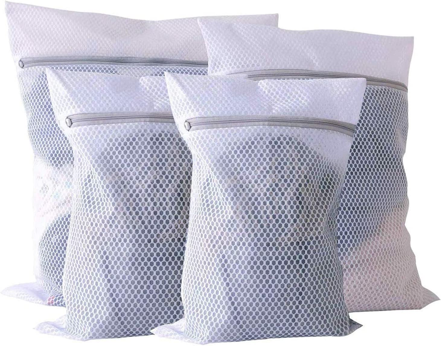 Extra Large Laundry Bag Mesh Wash - Pack of 4 (2 Extra Large and 2 Large) Durable and Reusable Wash Bag, Travel Organization Bag For Clothing, Jeans, Bath Towels, Sheets.