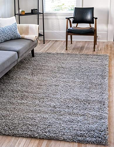 Unique-Loom-Solo-Solid-Shag-Collection-Modern-Plush-Cloud-Gray-Area-Rug