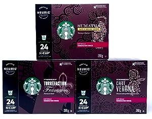 Starbucks Black Coffee K-Cup Variety Pack for Keurig Brewers (Variety Black Coffee, 72 Count)