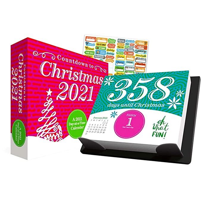 How Long Till Christmas 2021 Countdown To Christmas 2021 Calendar Box Edition Bundle Deluxe 2021 Countdown To Christmas Day At A Time Box Calendar With Over 100 Calendar Stickers Xmas Gifts Office Supplies Amazon In Office Products
