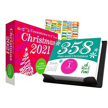 Christmas Ty 2021 Products Countdown To Christmas 2021 Calendar Box Edition Bundle Deluxe 2021 Countdown To Christmas Day At A Time Box Calendar With Over 100 Calendar Stickers Xmas Gifts Office Supplies Amazon In Office Products
