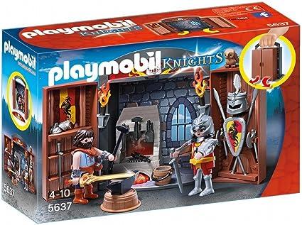 Playmobil Cofre Caballeros Unica 5637 Amazon Es Juguetes Y Juegos