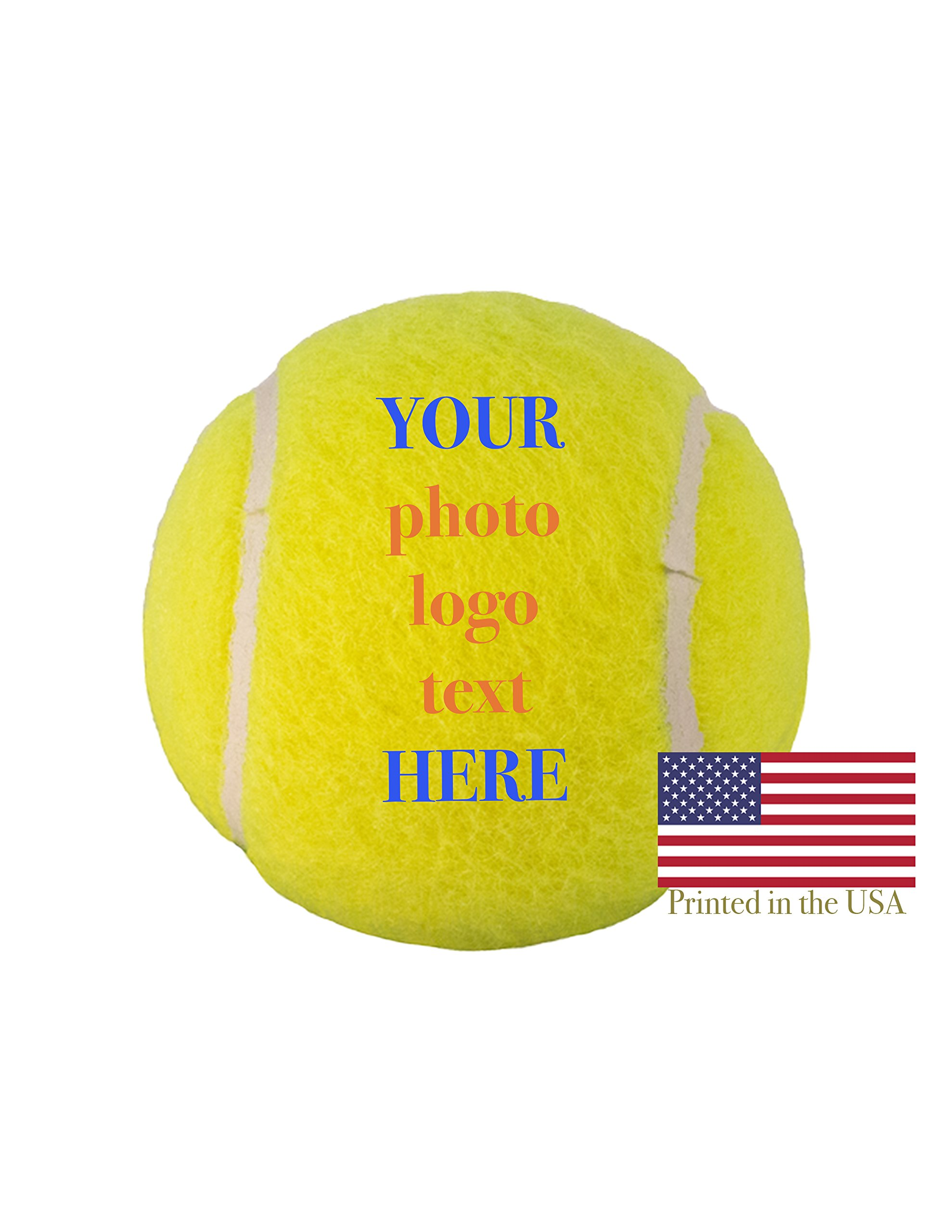 Custom Personalized Tennis Ball Ships Next Day, High Resolution Photos, Logos & Text on Tennis Balls for Players, Trophies, MVP Awards, Coaches, Personalized Gifts