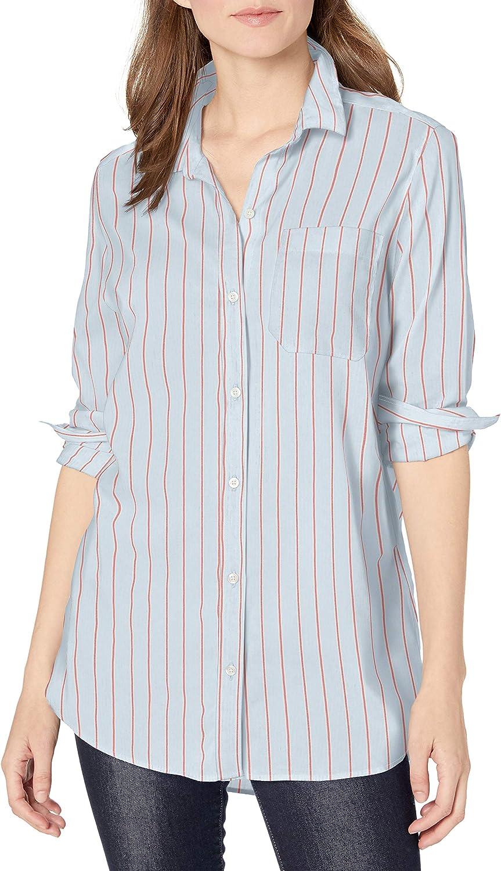 Amazon Brand - Goodthreads Women's Lightweight Poplin Long-Sleeve Oversized Boyfriend Shirt