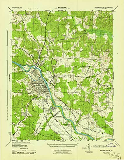 Fredericksburg Virginia Map.Amazon Com Yellowmaps Fredericksburg Va Topo Map 1 31680 Scale