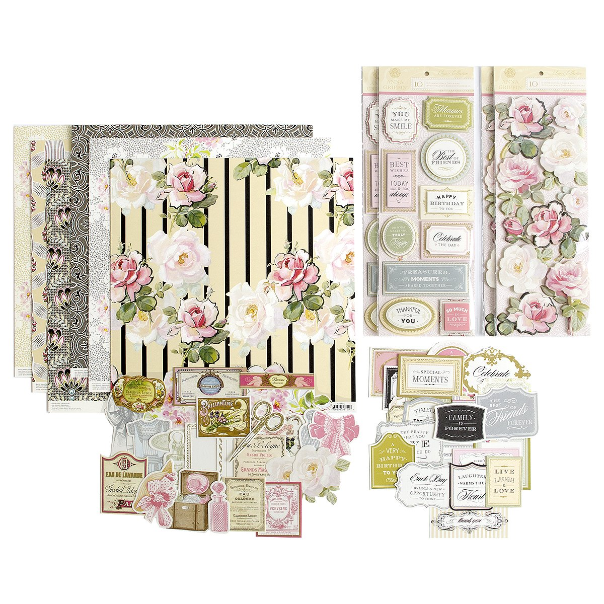 Anna Griffin Ag-714H Eleanor Paper Card Kit, 13.75'' x 13.75'', Multi by Anna Griffin