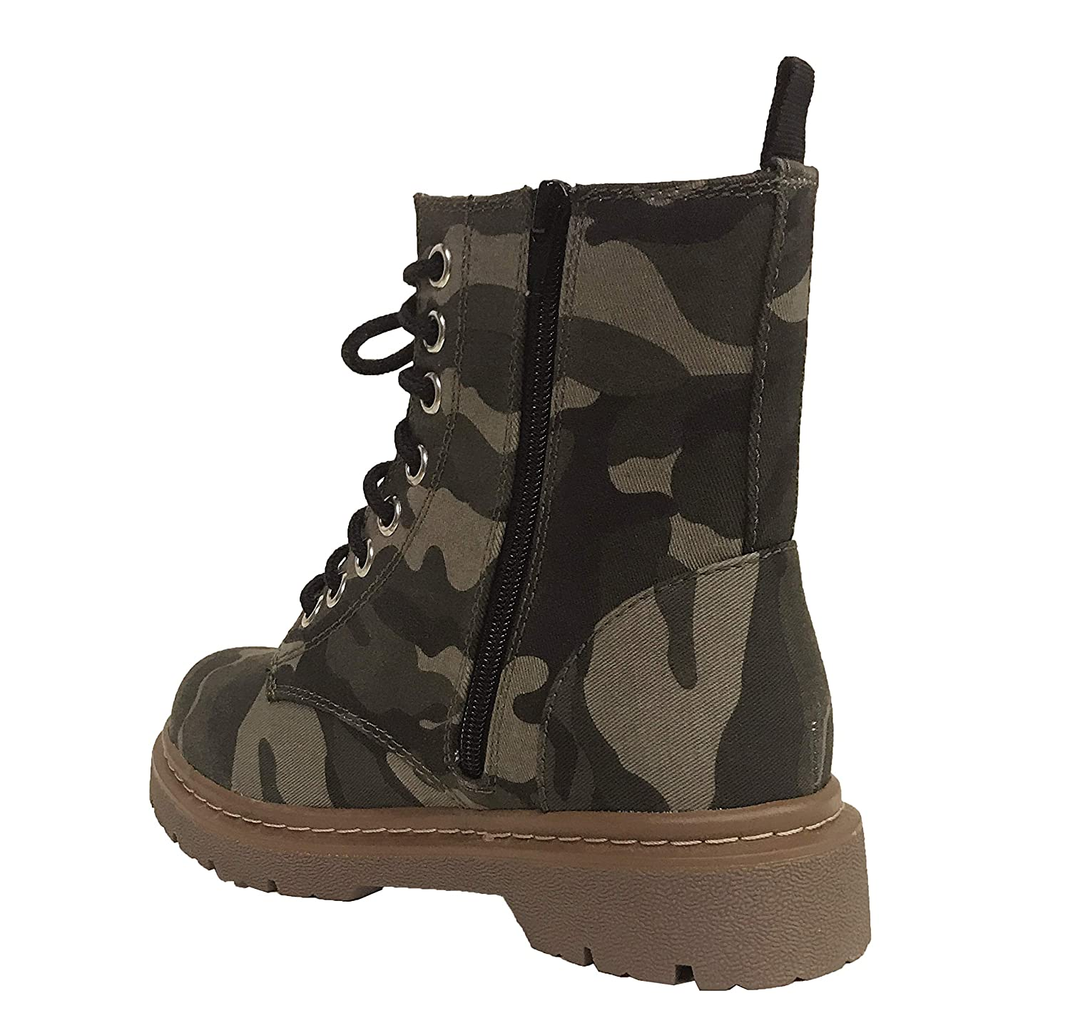 8e9c36ee4 Amazon.com   SODA Gerda Women's Rose Embroidered Lace Up Combat Boots    Ankle & Bootie