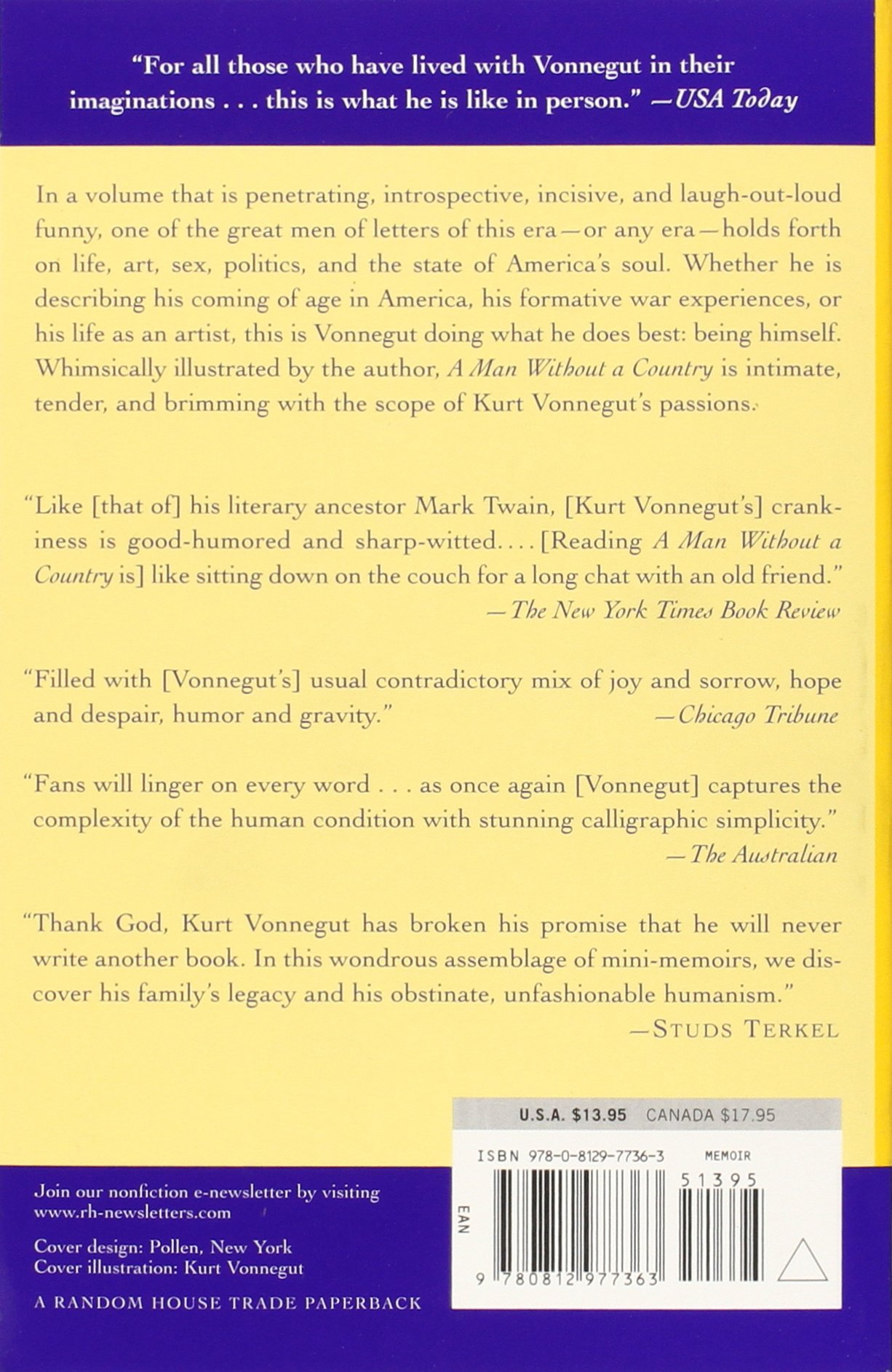 a man out a country kurt vonnegut com a man out a country kurt vonnegut 9780812977363 com books