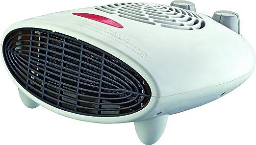 2 velocidades y Ventilador Fr/ío Reacondicionado Duronic FH24K Calefactor de Aire Caliente El/éctrico Bajo Consumo con Termostato Regulable Potencia de 2400W