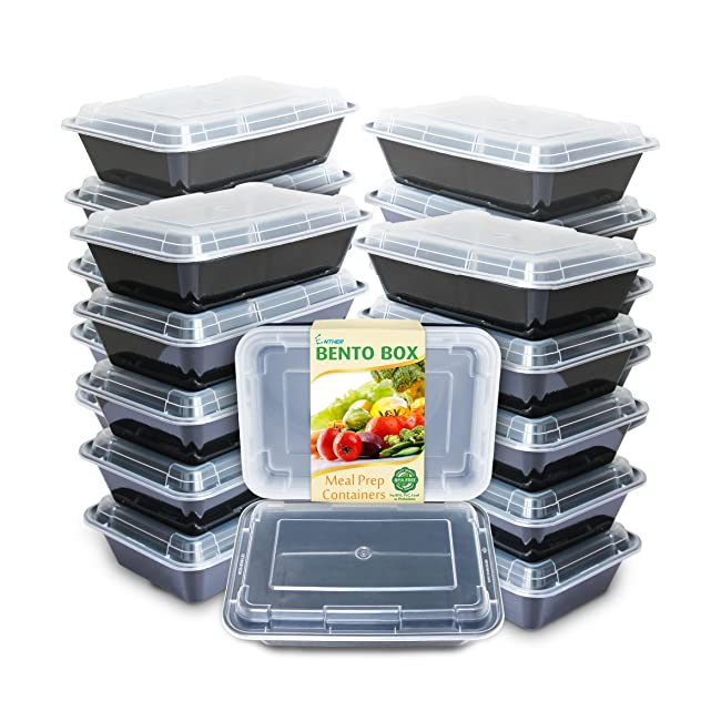 Enther Meal Prep Containers [20 Pack] Single 1...