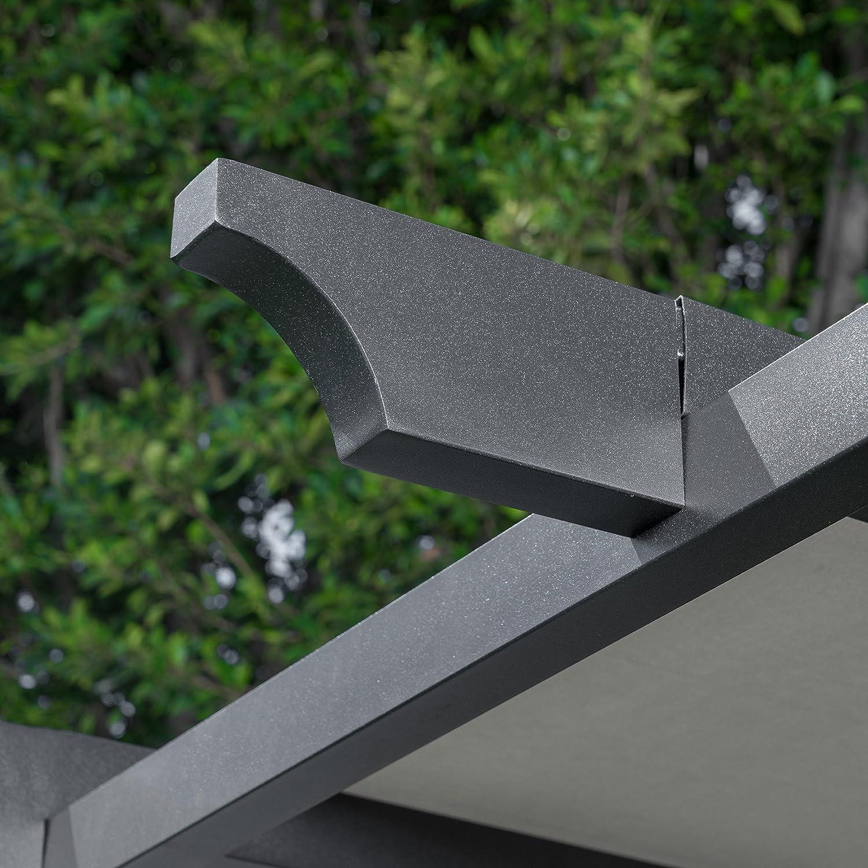 Hanover - Pérgola metálica con Dosel Gris Ajustable: Amazon.es: Deportes y aire libre