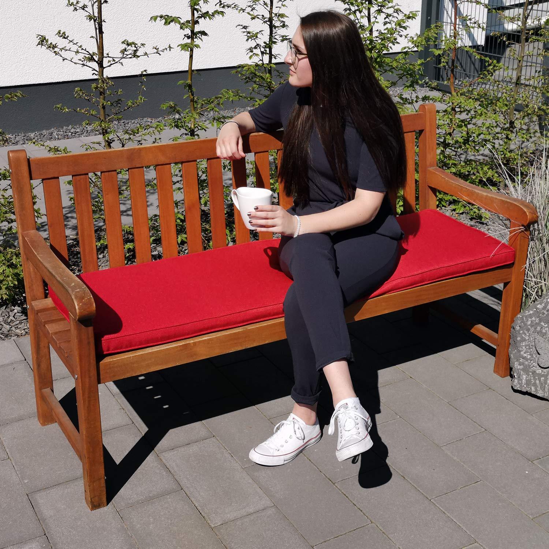Cuscino Imbottito per Banche SunDeluxe Cuscino per Panca da Giardino e Dondolo  Smart Farbe:Beige mobili per Pallet Banca Non Compresa Sfoderabile panchine Gr/ö/ße:100 x 48 x 5 cm