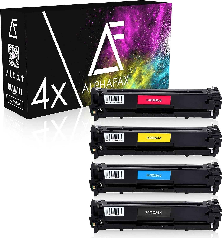 4 Alphafax Toner Kompatibel Mit Hp Ce320a Ce323a 128a Für Laserjet Cp1525nw Cp1526nw Cm1400 Series Cm1410 Series Cp1500 Series Cp1520 Series Schwarz 2 200 Seiten Color Je 1 400 Seiten Bürobedarf Schreibwaren