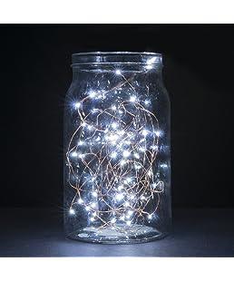 B-right 30er Micro LED Lichterketten mit Batterie, LED lichterketten draht, Kaltweiß, Dekoration für Terrasse, Garten, Schlafzimmer, Weihnachtsfest, Hochzeit