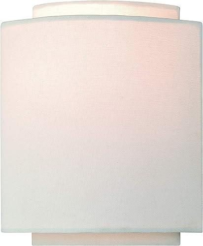Burnaby 1 Light Gold Mid-Century Modern Flush Wall Sconce White Linen