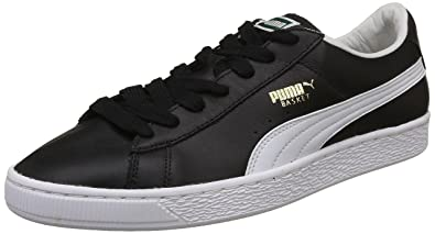 2e09d0a55441 Puma Men s Basket Classic LFS IdpMen Black White Leather Sneakers-10 UK  India (