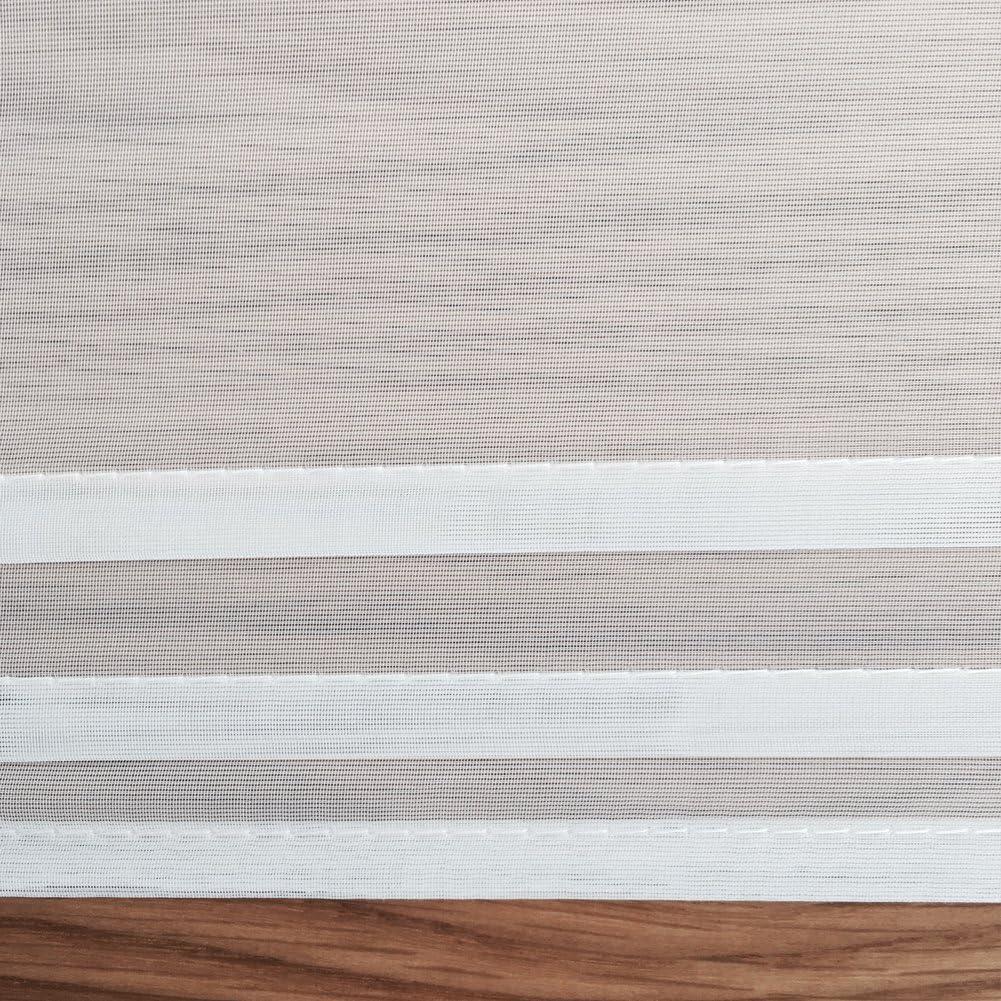 Vert, 80x155cm KOU-DECO Store Romain Rideau Voilage Raffrollo 1Pc//Paquet D/écoration pour Chambre et Salon