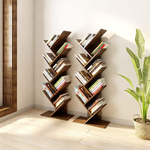 YITAHOME 9 Shelf Tree Bookshelf - the best modern bookcase for the money