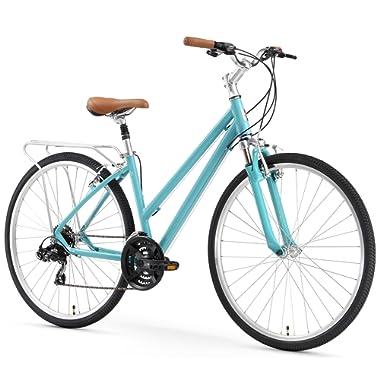 sixthreezero Pave N' Trail Women's Hybrid Road Bicycle w/Rear Rack, 26  Wheels/ 17  Frame
