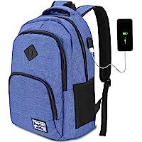 YAMTION Mochila Hombre para Portátil Mochilas Escolares Juveniles con Puerto USB Resistente al Agua
