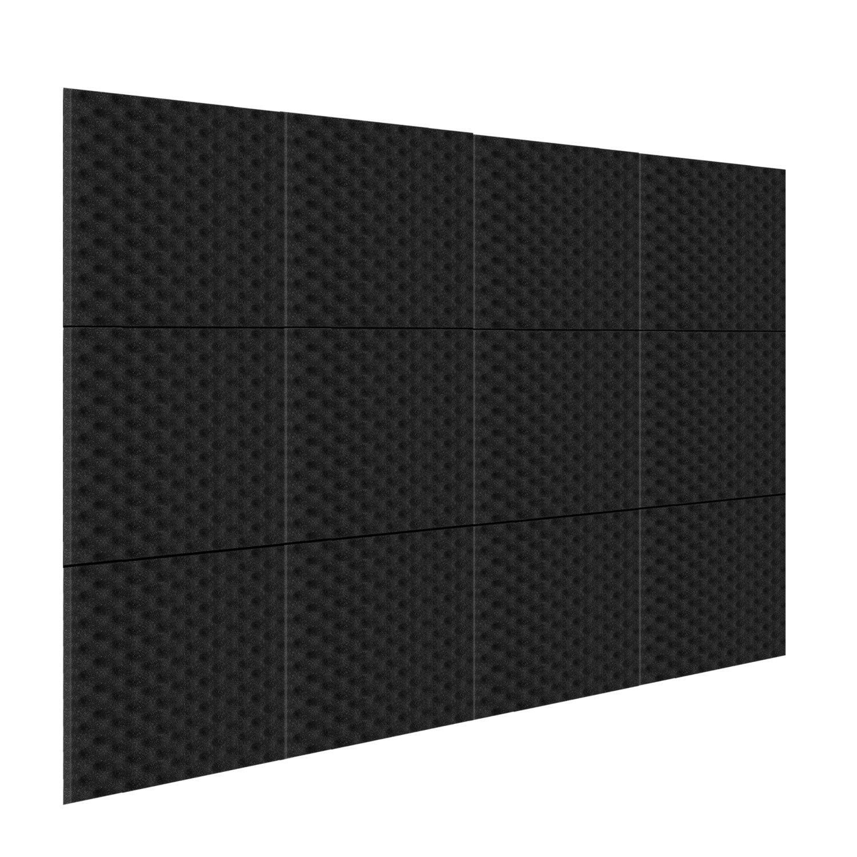 Neewer 12 Pack Akustikplatten Studio Schaum Schallabsorption, schallgedämmter Schaum, 1 X 12 X 12 Eierkarton Fliesen für Zuhause und Studio Tonschaumkeil schallgedämmter Schaum 40093968