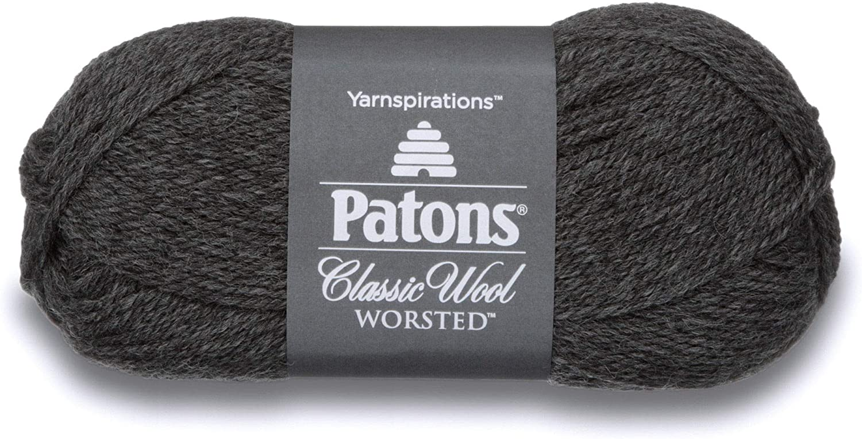 Patons Classic Wool Yarn, Dark Grey Mix (244077-225)