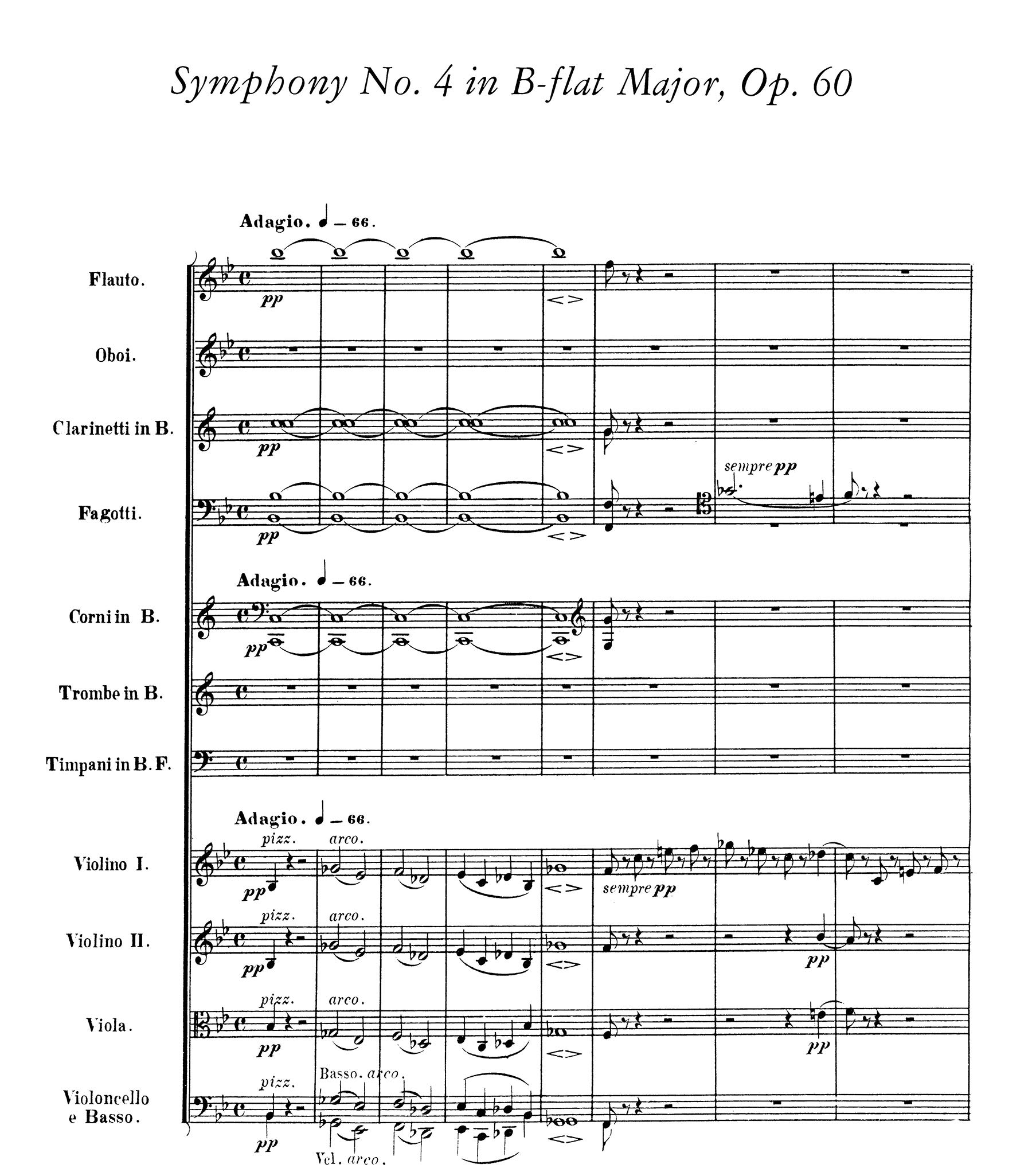 Beethoven: Symphonies Nos. 1, 2, 3 and 4 Full Score Dover Music ...