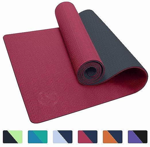 JAG Esterilla de Yoga Textura Antideslizante con Correas ...