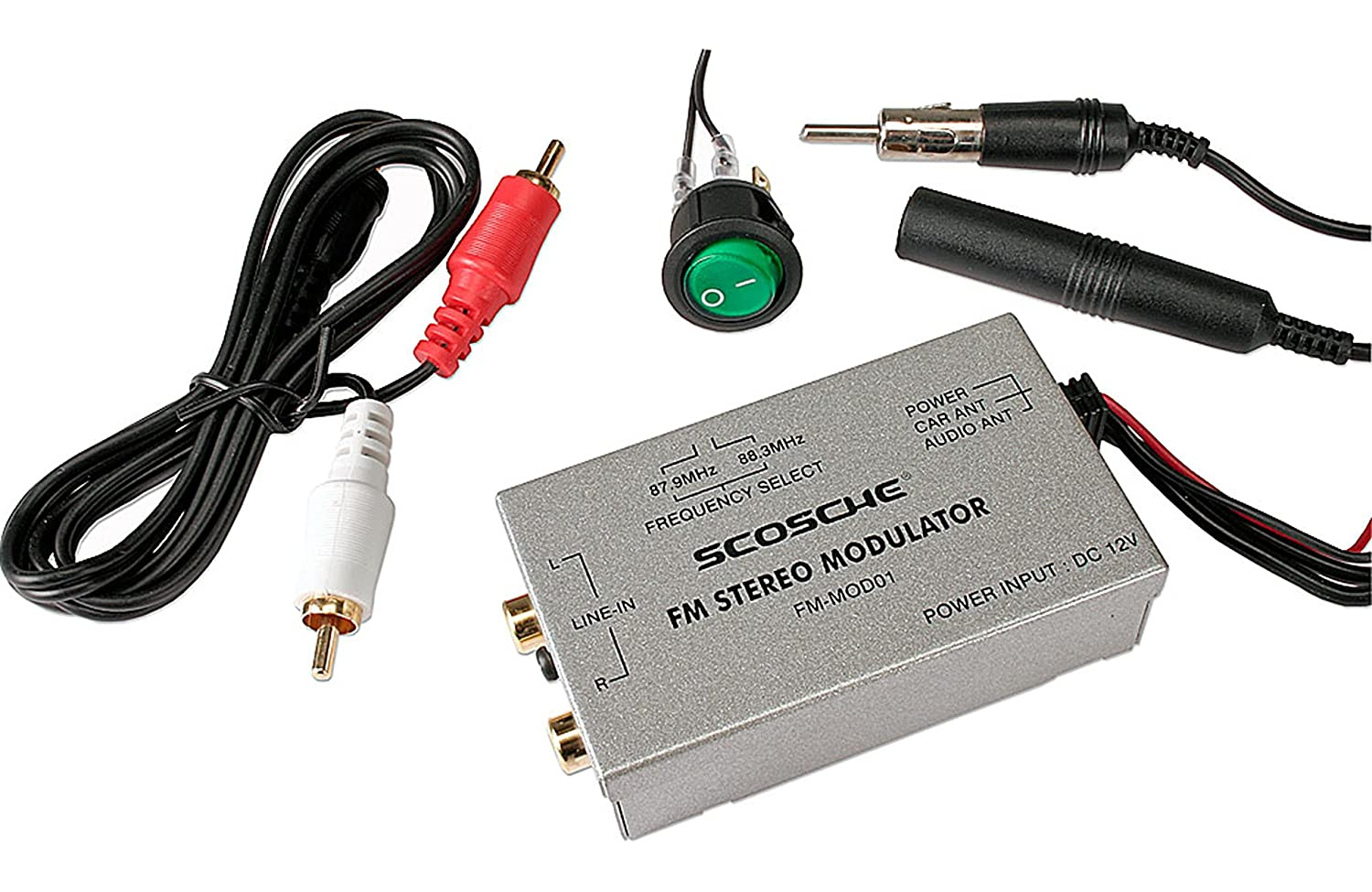 or Other Portable Music Player Through Any FM car Stereo Scosche FM-MOD01 Modulator Play Satellite Radio Tuner
