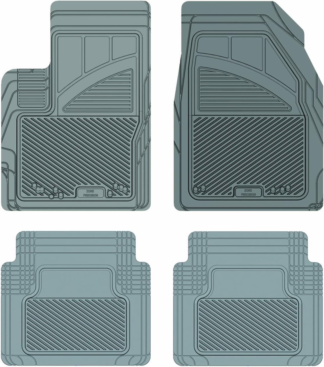 Koolatron Pants Saver Custom Fit 4 Piece All Weather Car Mat for Select Mazda CX-9 Models Grey