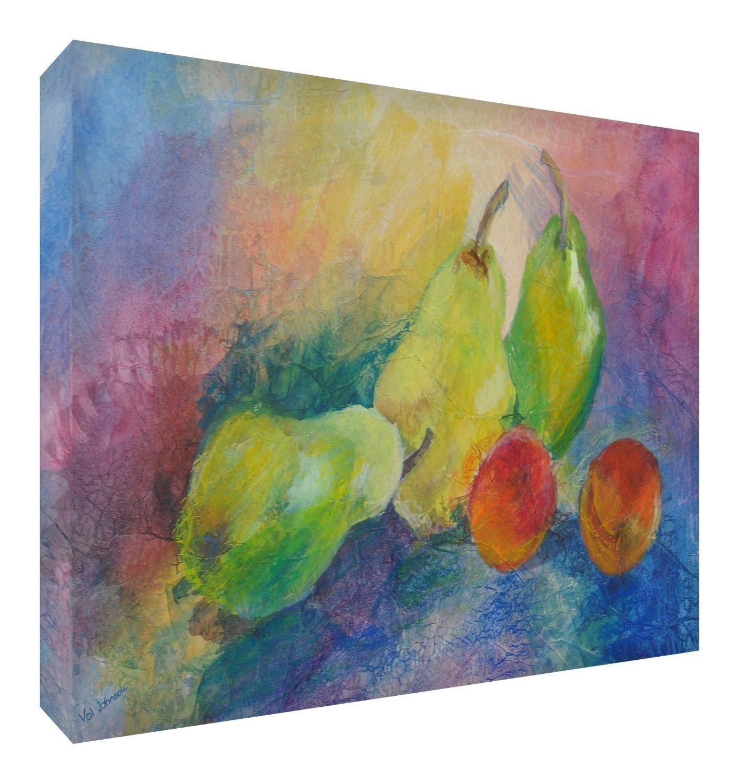 Feel Good Art Leinwand leuchtenden Farben gehören des Künstlers Val Johnson Fruit 115x 78x 4cm Größe XXL