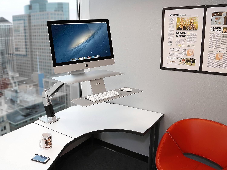 Ergotron workfit d sit stand desktop workstation radius office - Amazon Com Ergotron Workfit A Sit Stand Workstation For Apple 24 414 227 Computers Accessories