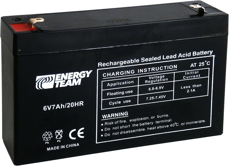 Batería AGM sellada de Plomo 6V 7Ah energyteam ET6–7
