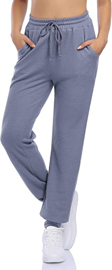 GlorySunshine Women's High Waisted Sweatpants Joggers Lightweight Baggy Workout Pants Drawstring Elastic with Pockets