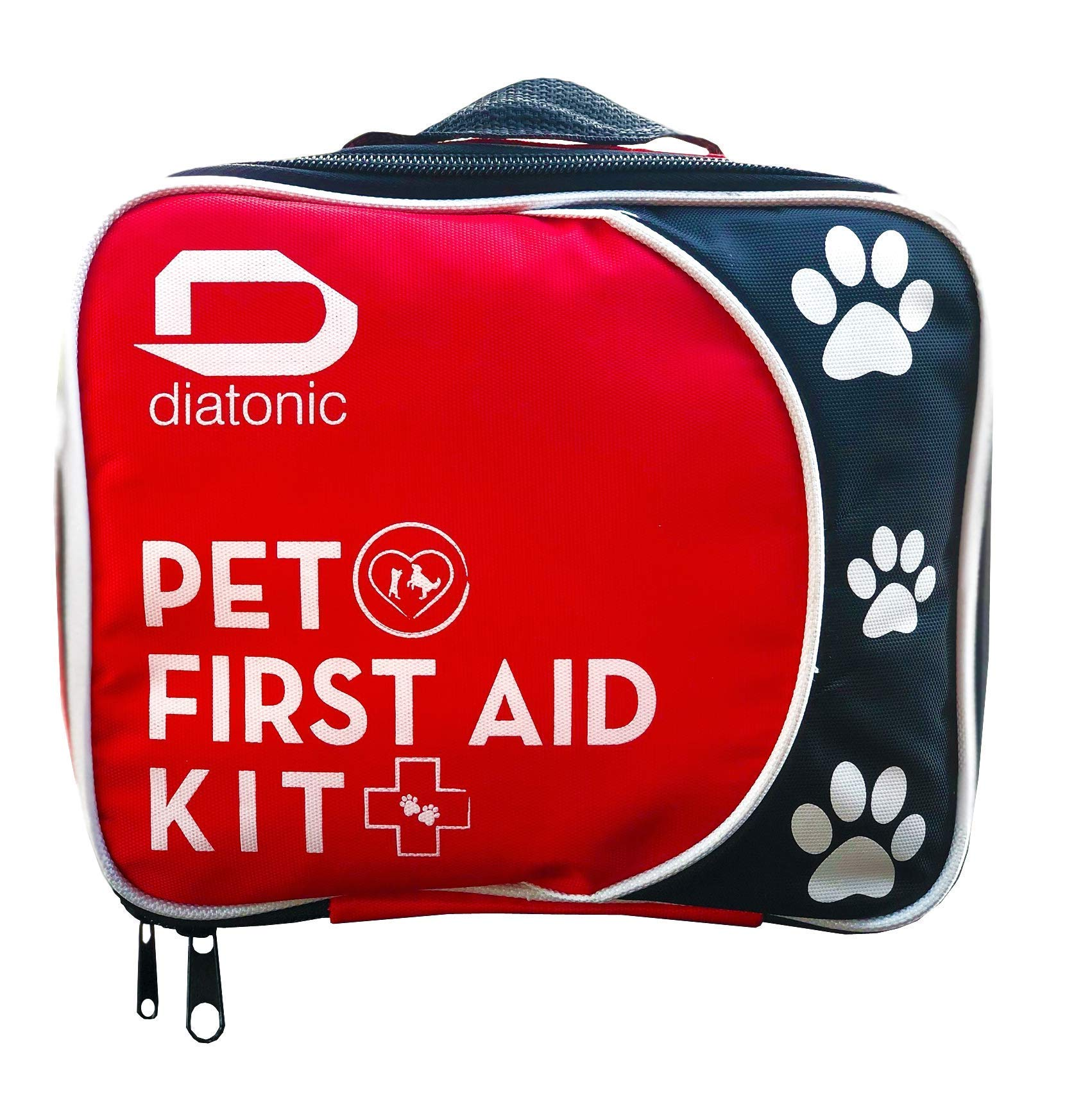 Pet First Aid Kit with Free Emergency Foldable Bowl - Travel and Camp for Pets and People, Universal First Aid - By Diatonic Designs by Diatonic Designs, LLC