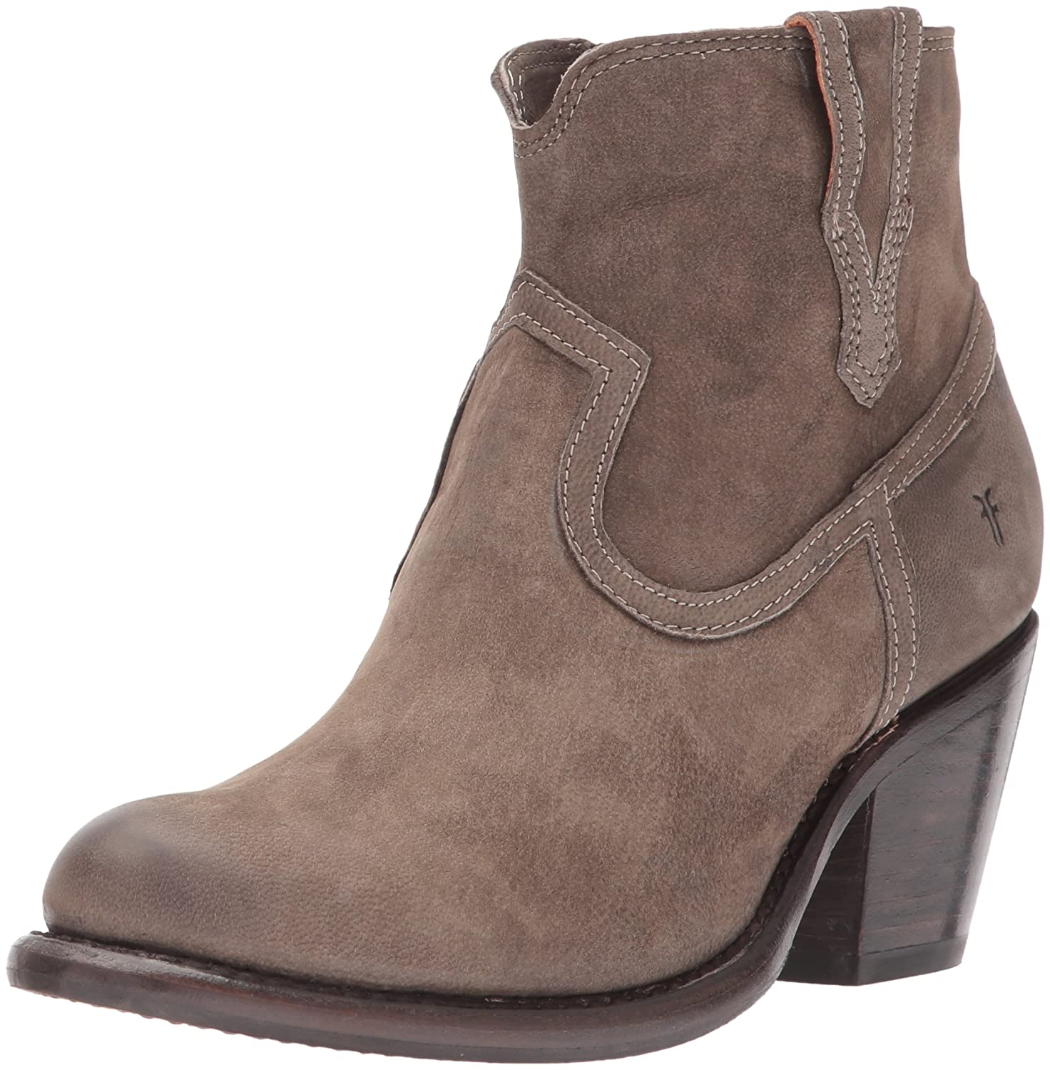 FRYE Women's Lillian Western Bootie Boot B01MT27FE6 6.5 B(M) US|Grey Nubuck