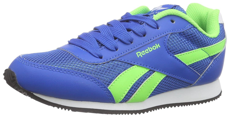 Reebok Royal Cljog 2, Scarpe da Corsa Bambino, Blu/Verde/Bianco/Nero (Blue Sport/Solar verde/Wht/Blck), 36 EU