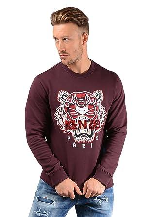 best deals on wholesale popular stores Kenzo Pull - Hommes 5sw088 Tigre Pull en Bordeaux - Pourpre ...