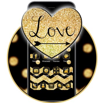Amazon com: Gold Glitter Love 2D theme: Appstore for Android