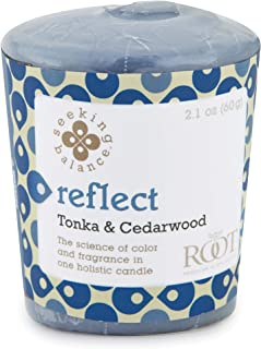 product image for Root Candles Seeking Balance 20-Hour Votive Candles, 18-Pack, Reflect: Tonka & Cedarwood, 18 Count