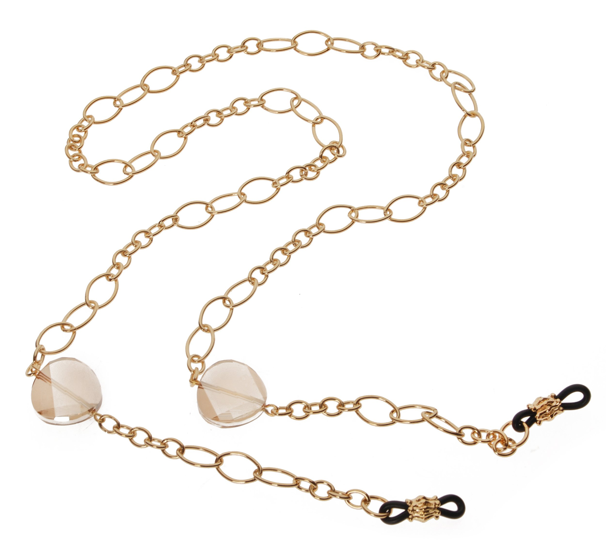 L. Erickson Spellbound Eyeglass Chain - Golden Shadow/Gold by L. Erickson