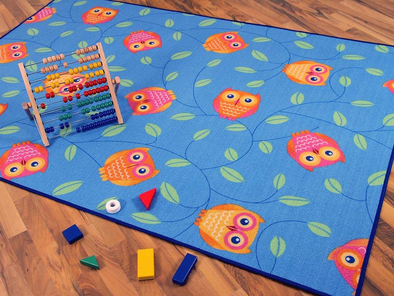 Snapstyle Kinder Kinder Kinder Spielteppich Eule Blau Türkis Grün in 24 Größen B00J48JFNW Teppiche & Lufer d63b1f