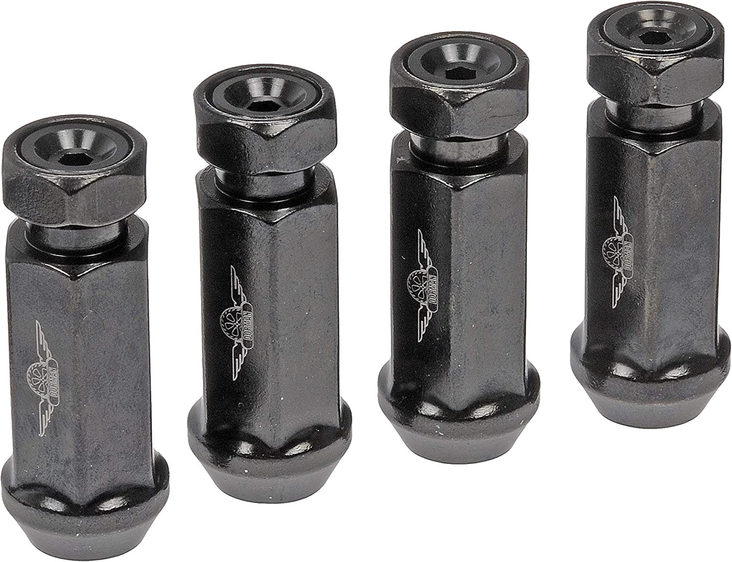 Pack of 20 Dorman 712-645A M14-1.50 Racing Style Wheel Nut for Select Models Black