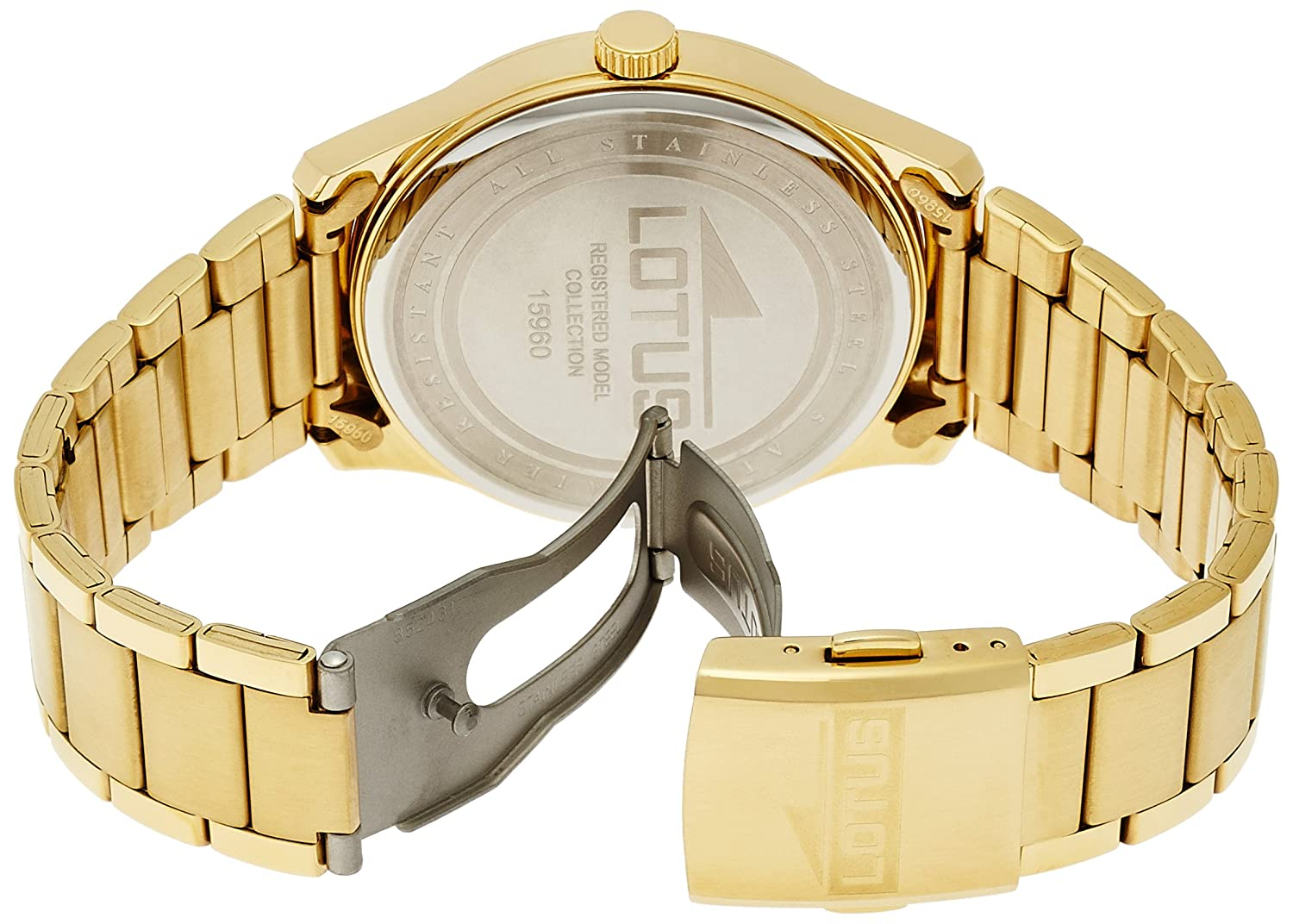 Amazon.com: Mens Watch - Lotus - Gold Platted 5 Micron - 15960/2: Watches