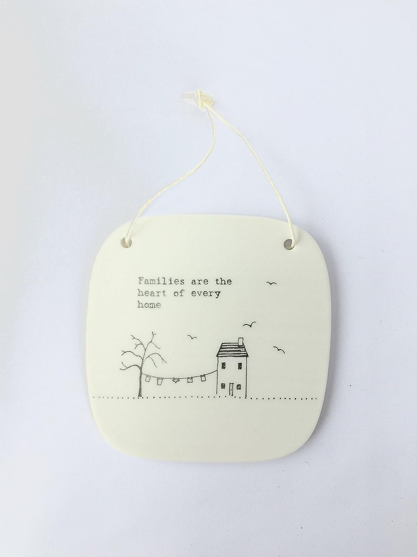 East of India Porzellan Clay Bild Square Plaque Geschenk Andenken einfach reinigen Design Friends Familie Gl/ück Escape 4267 Sonnenspirale